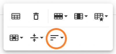 26i - tabel opties - horizontal align
